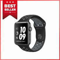 Apple Watch Series 2 Nike 38mm Gray Aluminum Case Black Cool Gray Sport Band - Garansi Resmi Apple