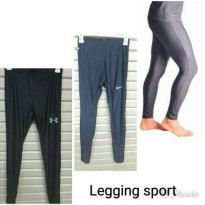 (High Quality) MANSET CELANA PANJANG/ LEGGING SPORT GRADE ORI NIKE UNDER ARMOUR