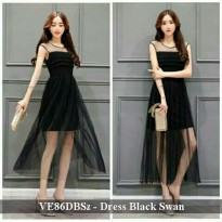Dress Murah | Grosir DRess Wanita | VE86DBSz - Dress black swan