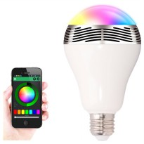 Bohlam LED RGB E27 dengan Bluetooth Speaker - White