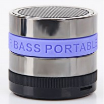 Mini Metal Super Bass Portable Bluetooth Speaker - S302 - Blue