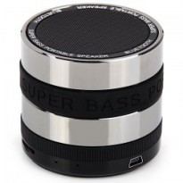 Mini Metal Super Bass Portable Bluetooth Speaker - S302 - Black