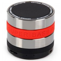 Mini Metal Super Bass Portable Bluetooth Speaker - S302 - Red