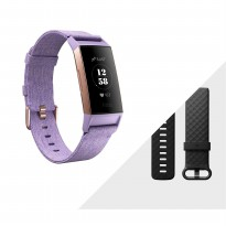 Fitbit Charge 3™ Advanced Fitness Tracker - Lavender Women/Rose Gold Aluminium
