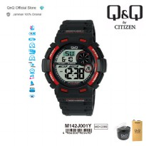 Q&Q QnQ QQ Original Jam Tangan Pria Digital Casual Rubber- M142 M142J Water Resist