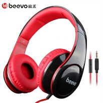 Beevo HiFi Super Bass Headphone dengan Mic - BV-HM740 - Black Kabel