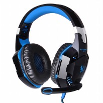 Kotion Each G2000 Gaming Headset Super Bass with LED Light - Black/Blue