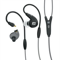 MEElectronics M7P Secure-Fit Sports In-Ear Headphones with Mic, Remote, and Universal Volume - M7P - Black Kabel