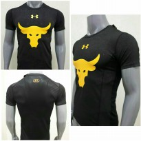 (Star Product) Kaos Tshirt Baju The Rock Dwayne Johnson UA Under Armour Grade Ori