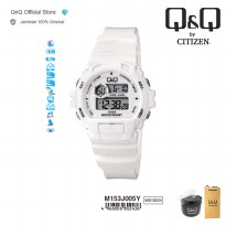 Q&Q QnQ QQ Original Jam Tangan Digital Casual Rubber - M153 M153J Water Resist