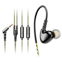 Knowledge Zenith Earphone dengan Mikrofon - QKZ-S6 - Black