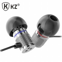 Knowledge Zenith HiFi Enthusiast In-Ear Earphones Metal Bass Sound with Microphone - KZ-HDS3 - Silver
