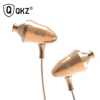 Knowledge Zenith Super Stereo In-Ear Earphones with Microphone - QKZ-DM5 - Golden