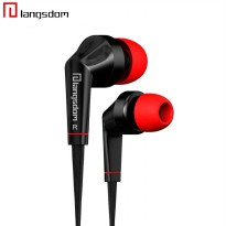 Langsdom Earphones Bass dengan Mic - Black
