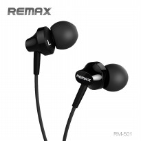 Remax Earphone with Microphone - RM-501 - Black Kabel