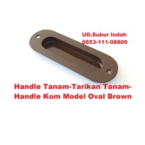 Handle Tanam-Tarikan Tanam-Handle Kom Model Oval Brown