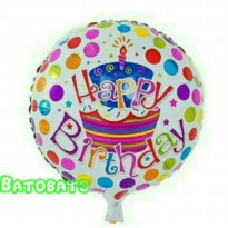 Balon Foil Bulat Happy Birthday