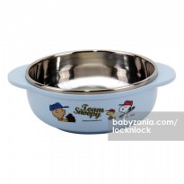 Lock & Lock Snoopy Baseball Stainless Soup Bowl with Handle