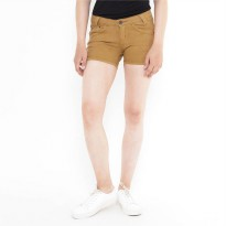 Mobile Power Ladies Basic Short Pants - Brown F5515