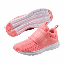 Sepatu Olahraga Lari Gym Senam Fitness Puma Enzo Strap Mesh Womens Run Shoes - Peach 19048302