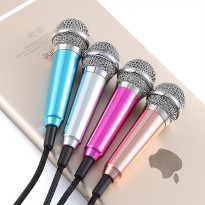 Mini Smartphone 3.5mm Microphone with Mic Stand - Pink
