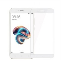 HMC Xiaomi Mi A1 / AndroidOne Tempered Glass - 2.5D Full Screen - Lis Putih