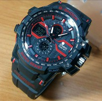 Jam Tangan Pria Sport Casio G-Shock X Faktor Black List Red
