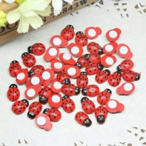 lady bug party 3d sticker sponge sticker kumbang hiasan dekorasi