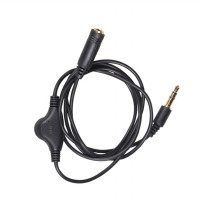 Kabel Ekstensi 3.5mm Male ke Female dengan Volume Control - Black