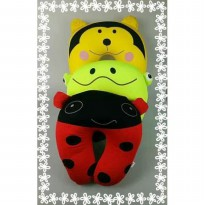 Bantal Leher karakter bantal travel pillow cartoon bugs keropi tiger