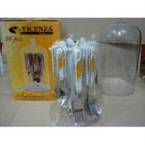 (Limited Offer) SENDOK GARPU SET VICENZA V248 ISI 26PCS ASLI STAINLESS STEEL