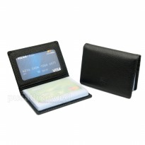 Promo! Braun Buffel Bo-2676 Black Dompet Kulit Kartu / Card Holder Import