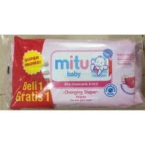 MITU PINK / Tissue basah 50 sheet / buy 1 get 1