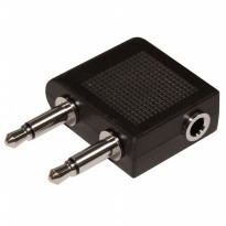 Adapter Earphone Jack Pesawat - Black
