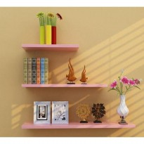 Wall Floating Shelf Rak Dinding 3pcs L=15cm(P=50, 40, 30) Melayang sj0037
