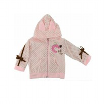 Jaket bayi / Baby Grow Jacket Cat Polkadot