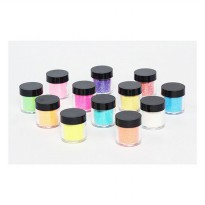 NAIL ART GLITTER POWDER 12 TUBE HALUS (800150192)