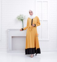 Premium Dress Ayana Busui Friendly Matterial Mosscrepe by Orlin Hijab Official