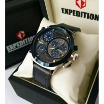 Jam Tangan Expedition E-6396 Silver Deal Blue Original