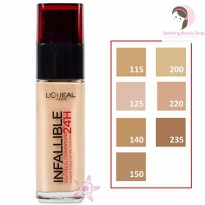 L'Oreal Paris Infallible Stay Fresh 24H Liquid Foundation - 30ml