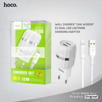 HOCO Wall charger C41A Wisdom EU dual USB Lightning charging adapter