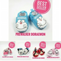 [02217][BEST SELLER]Prewalker/Sepatu Bayi Import Doraemon/Mickey/Minnie/Hello kitty/Kumbang