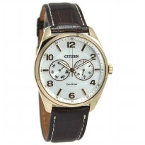 Citizen Jam Tangan Pria Coklat Leather Strap AO9024-08A