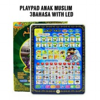 PLAYPAD ANAK MUSLIM 4 BAHASA WITH LED-Kado Mainan Anak