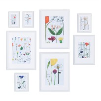 IKEA (R) - KNOPPANG Frame with poster, set of 8, white