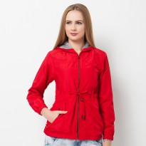 evio 503 woman parka jacket merah