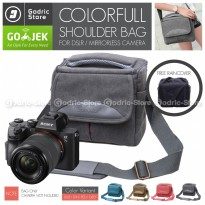 Tas KANVAS CANDY Sling Bag Case Canvas Kamera Mirrorless UNIVERSAL DSLR XA3 XA5 XA10 A6300 M10 M100