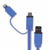 Hippo Lucent 2 in 1 kabel USB Micro + Lightning iPhone 50CM