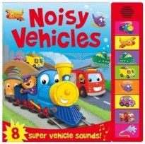 [HelloPandaBooks] Noisy Vehicles Super Sound Book with 8 Super Vehicle Sounds!