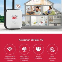 Modem Wifi 4G Router WiBox Wi Box W1 Smartfren Free 120GB 1bulan